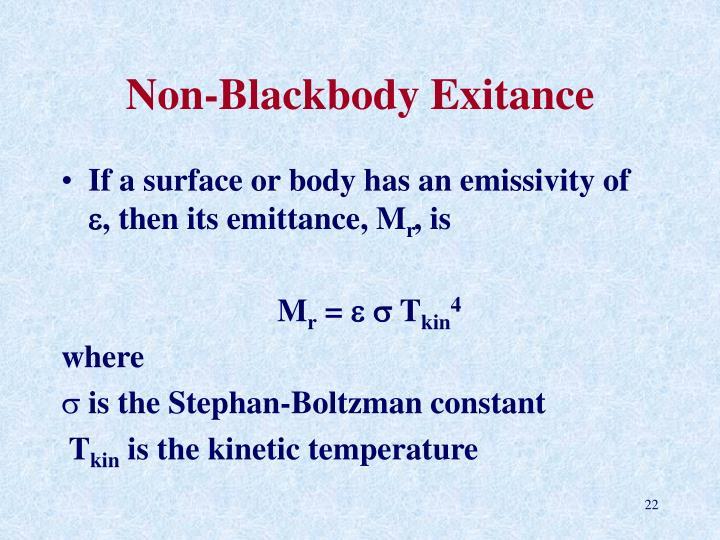 Non-Blackbody Exitance