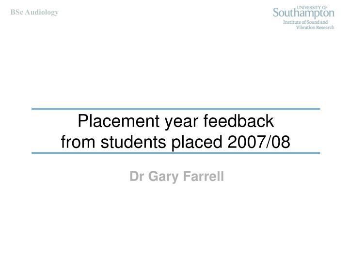 Dr Gary Farrell
