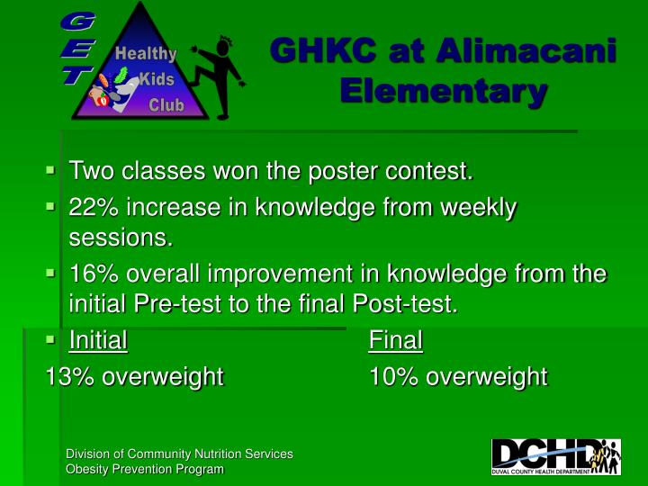 GHKC at Alimacani Elementary