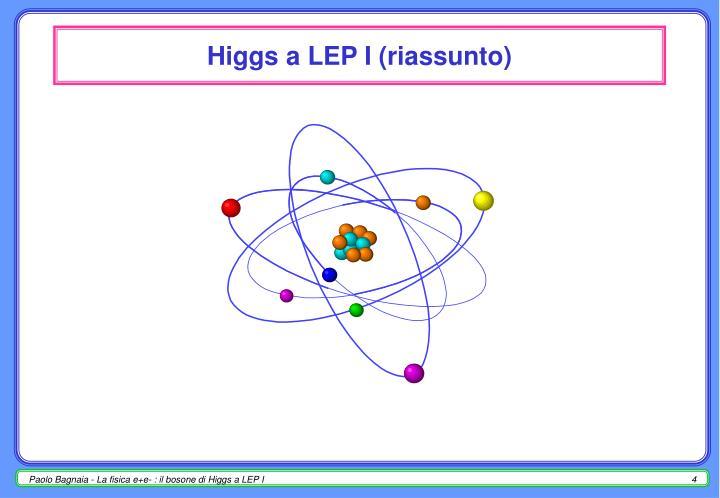 Higgs a LEP I (riassunto)