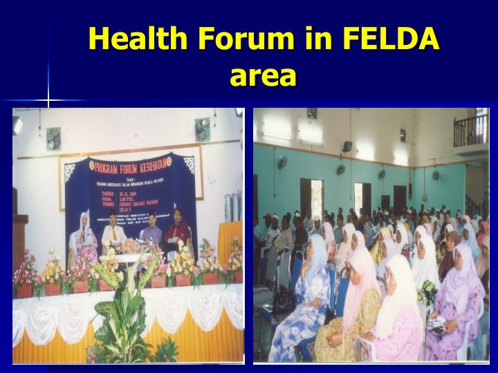 Health Forum in FELDA area