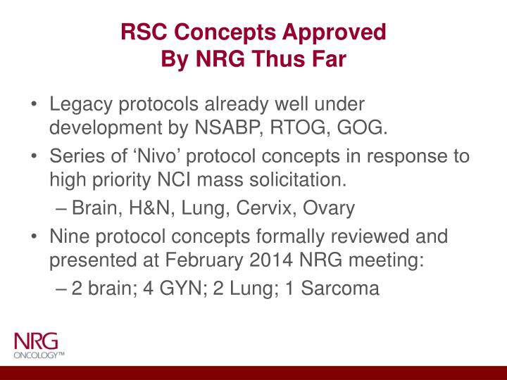 RSC Concepts Approved