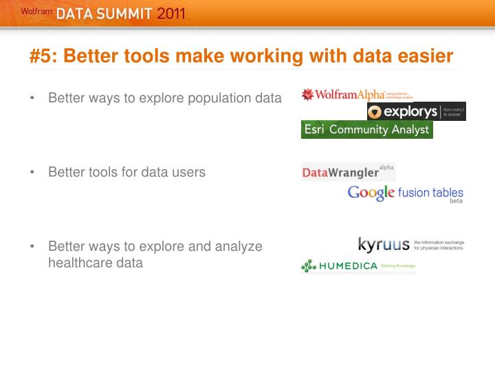 #5: Better tools make working with data easier