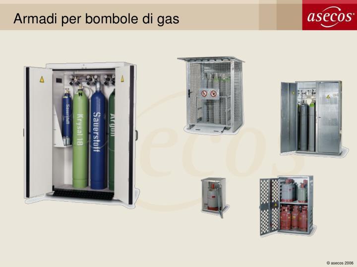 Armadi per bombole di gas