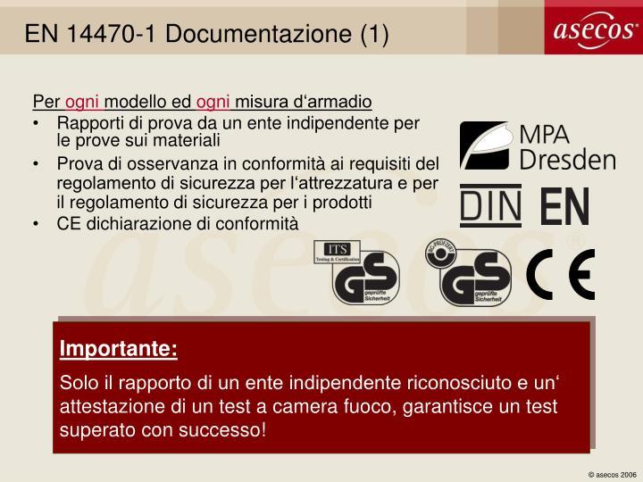 EN 14470-1 Documentazione (1)