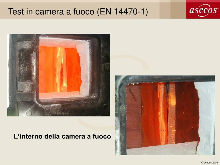 Test in camera a fuoco (EN 14470-1)