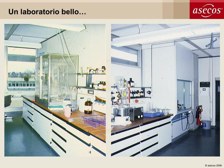 Un laboratorio bello…