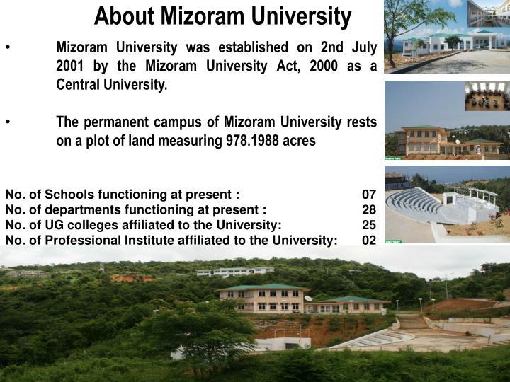 About Mizoram University