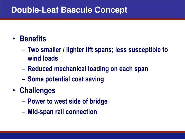 Double-Leaf Bascule Concept