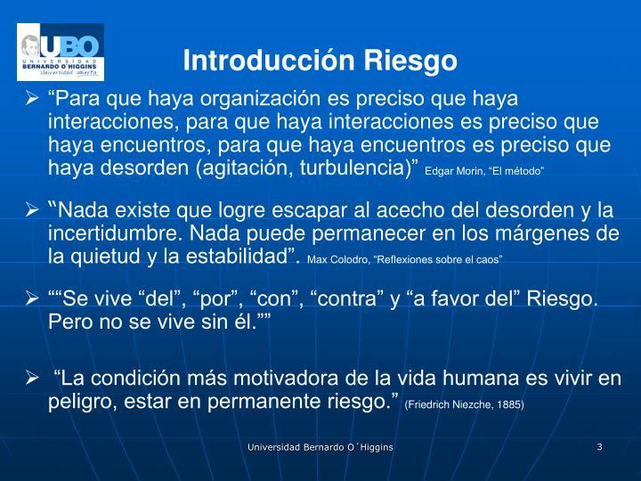 Introducción Riesgo