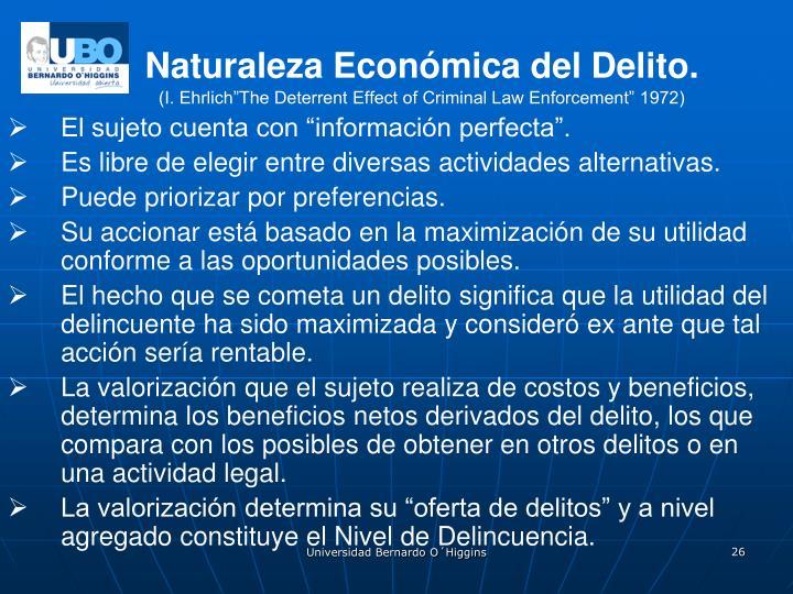 Naturaleza Económica del Delito.
