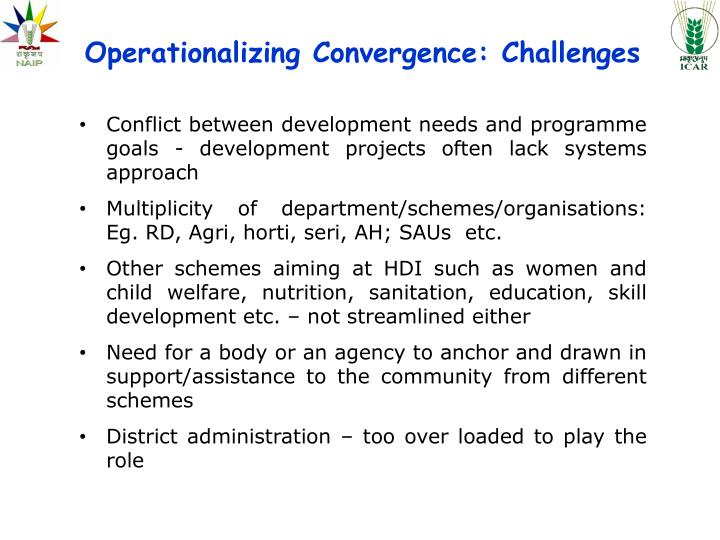 Operationalizing Convergence: Challenges