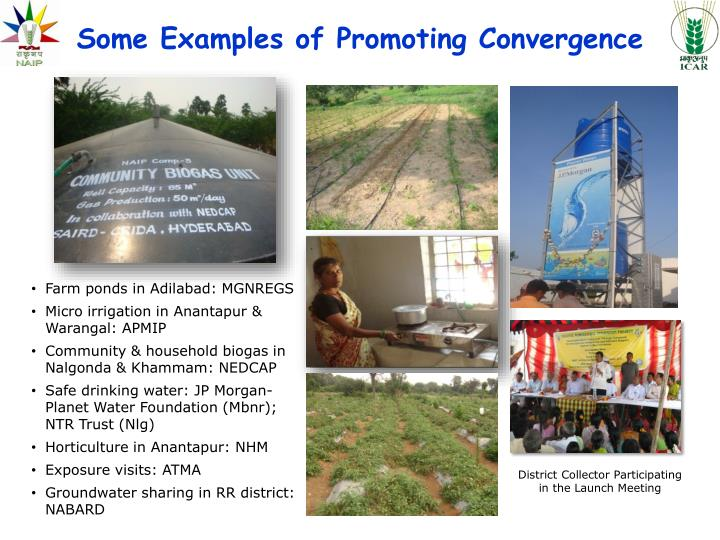 Some Examples of Promoting Convergence