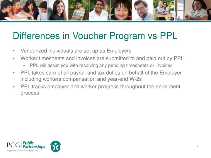 Differences in Voucher Program vs PPL