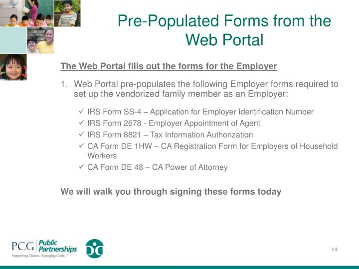 Pre-Populated Forms from the