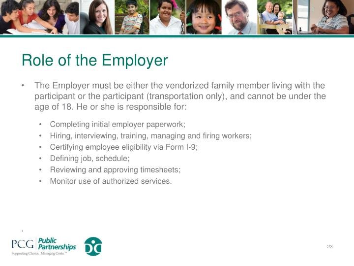 Role of the Employer