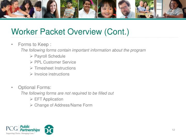 Worker Packet Overview (Cont.)