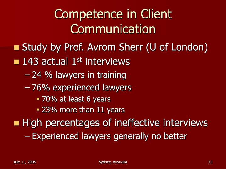 competence and the communication with clients essay Cultural competence: essential ingredient for successful transitions of care and communication patterns of major client/patient groups served competence is integral to providing culturally and linguistically appropriate services.