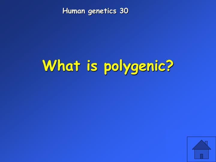 Human genetics 30