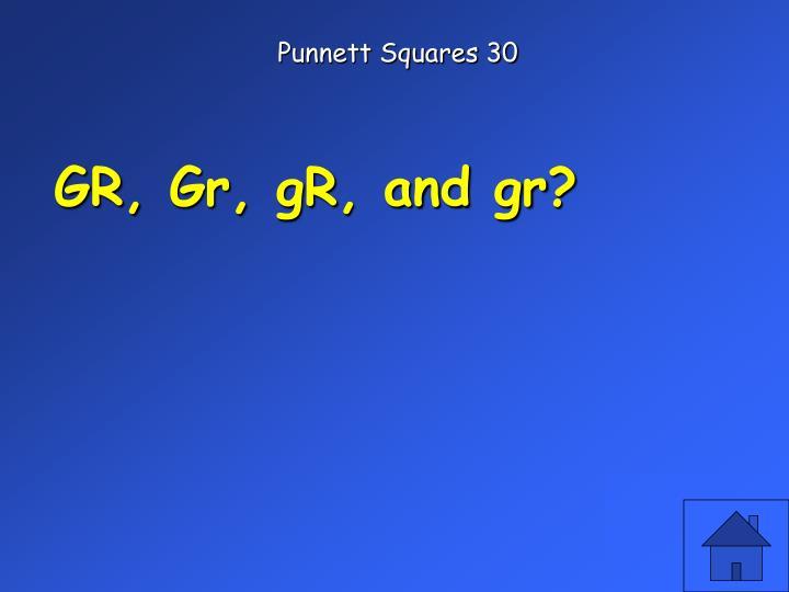 Punnett Squares 30