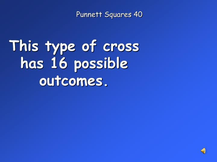 Punnett Squares 40