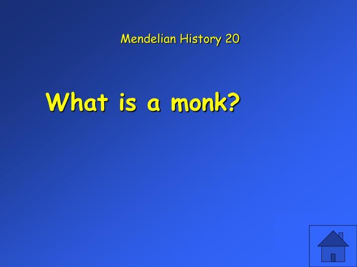 Mendelian History 20