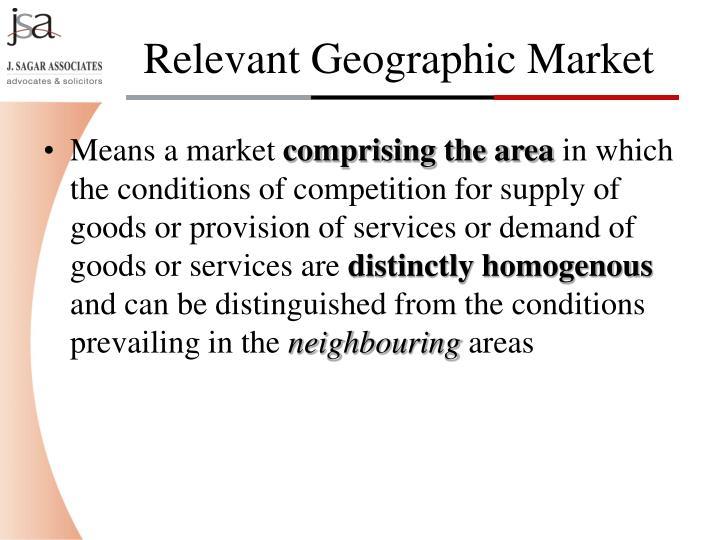 Means a market