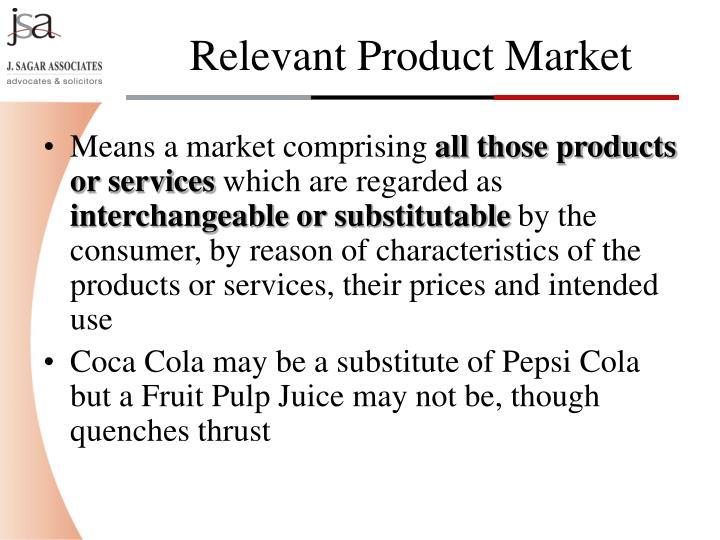 Means a market comprising