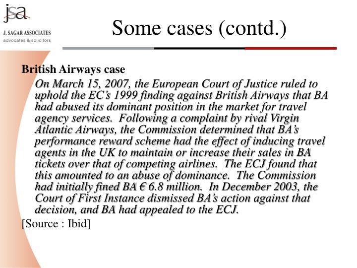 British Airways case