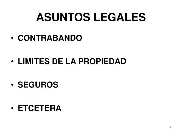 ASUNTOS LEGALES
