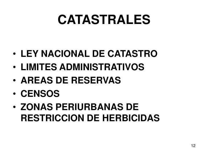 CATASTRALES