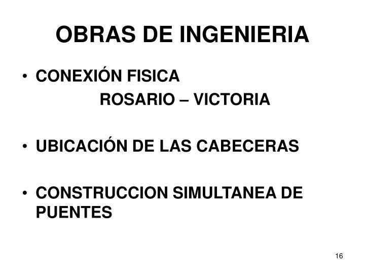OBRAS DE INGENIERIA