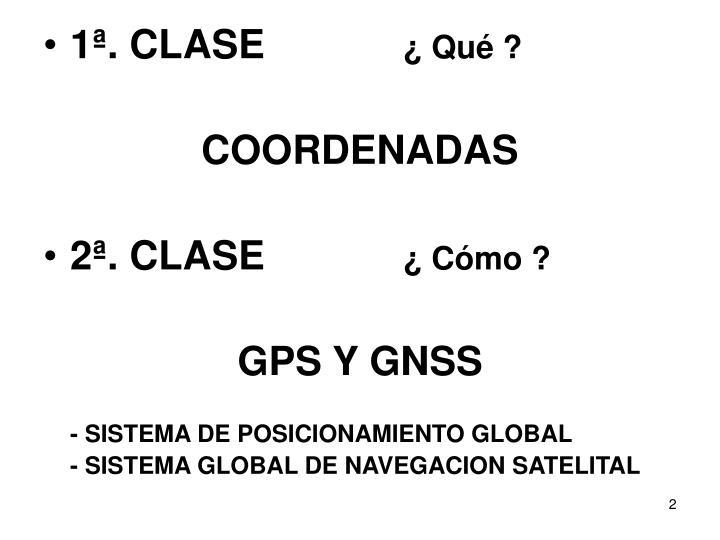 1ª. CLASE