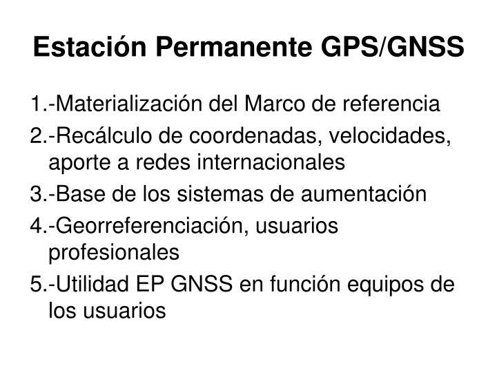 Estación Permanente GPS/GNSS