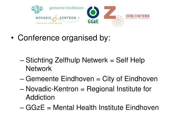 Conference organised by: