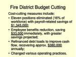 fire district budget cutting