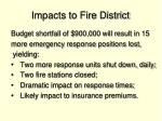 impacts to fire district