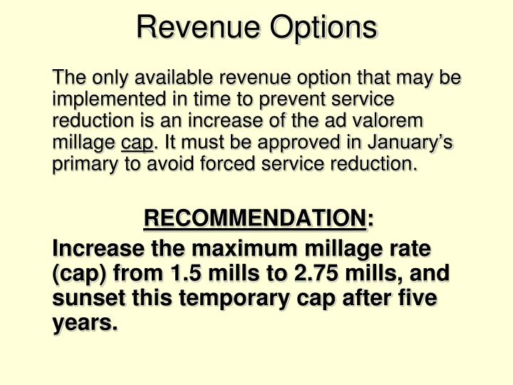 Revenue Options