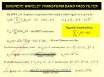discrete wavelet transform band pass filter