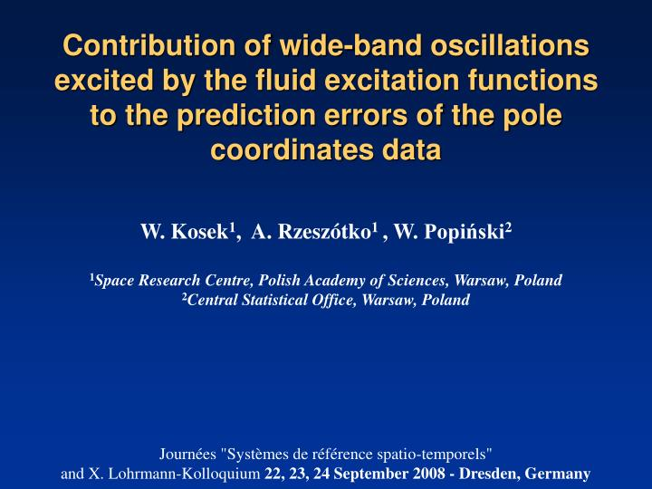Contribution of wide-band oscillations