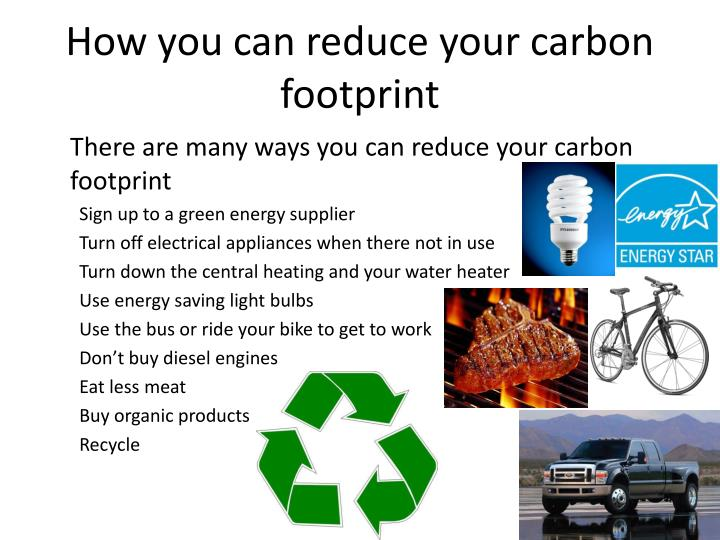 how to reduce climate change footprint