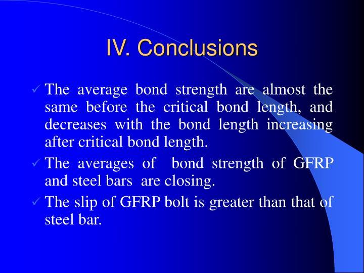 IV. Conclusions
