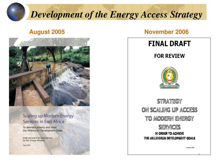 Development of the Energy Access Strategy