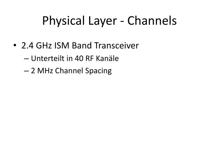 Physical layer channels