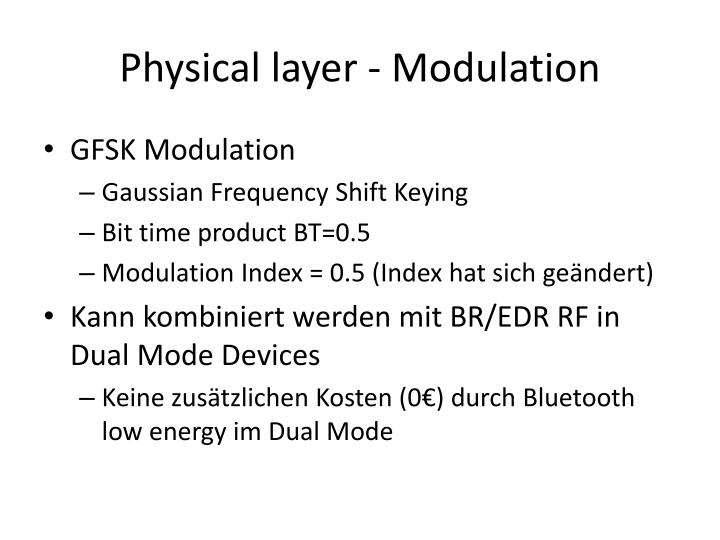 Physical layer - Modulation