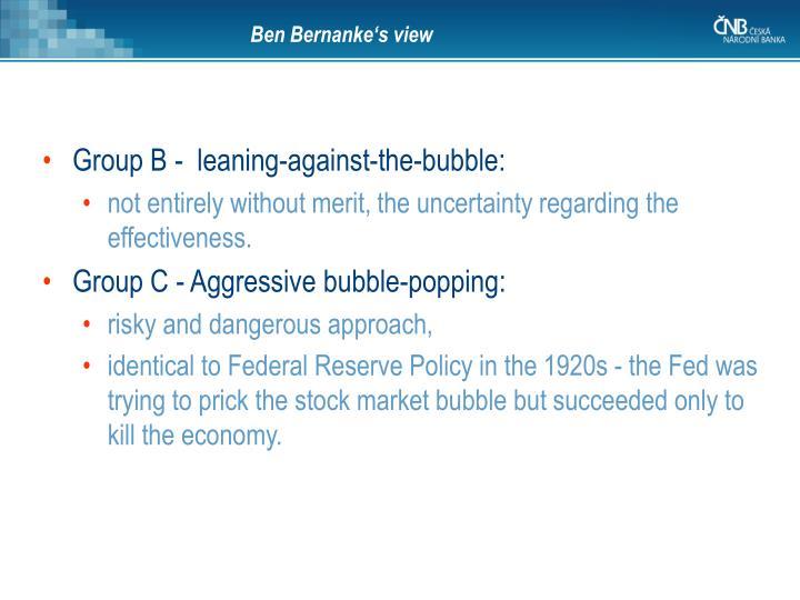 Ben Bernanke's view