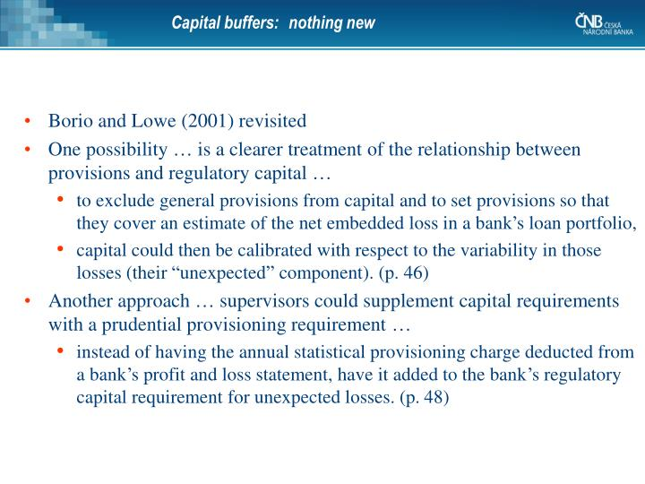 Capital buffers:
