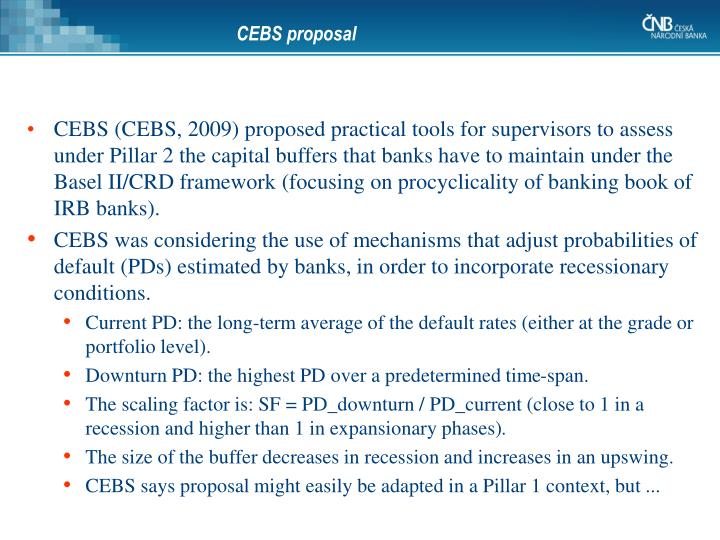 CEBS proposal