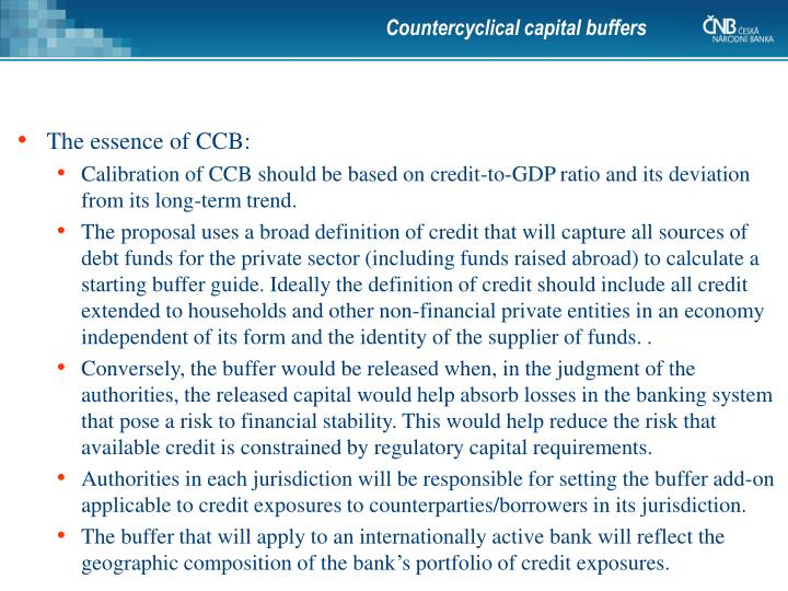 Countercyclical capital buffers