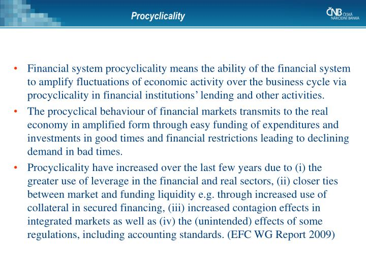 Procyclicality